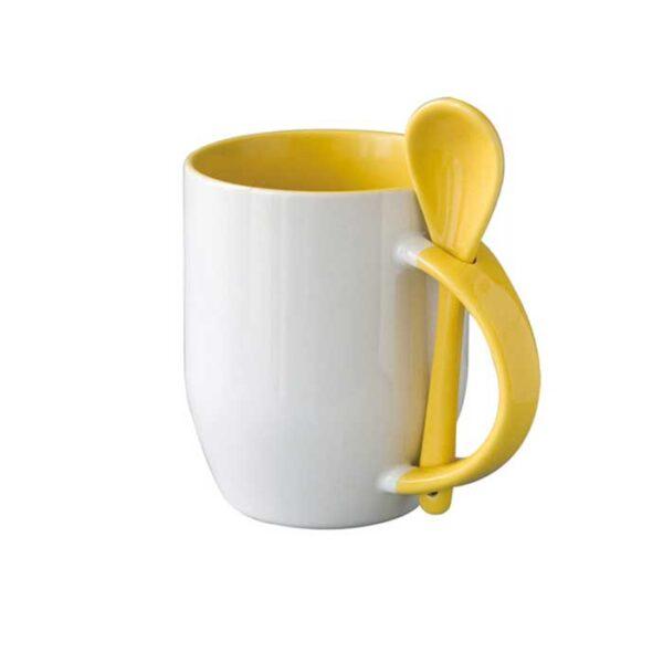 Šalica sa žlicom, žuta