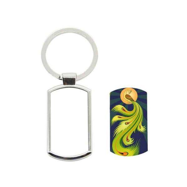 Metalni privjesak za ključeve, šesterokut