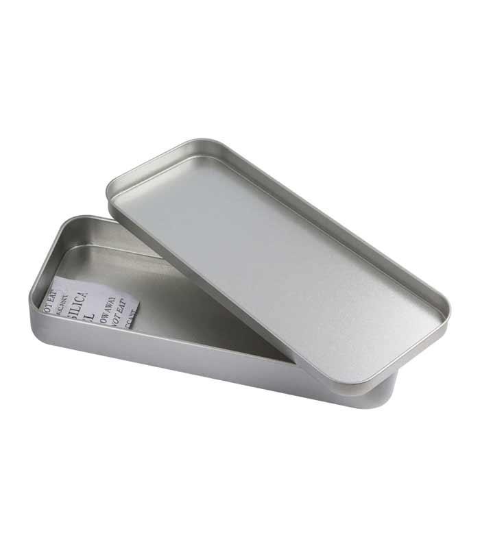 Metalna kutijica za olovke, srebrna