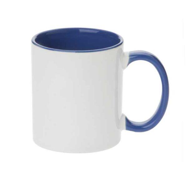 Šalica za sublimaciju, 11OZ, cambridge plava, ručka i unutrašnjost u boji