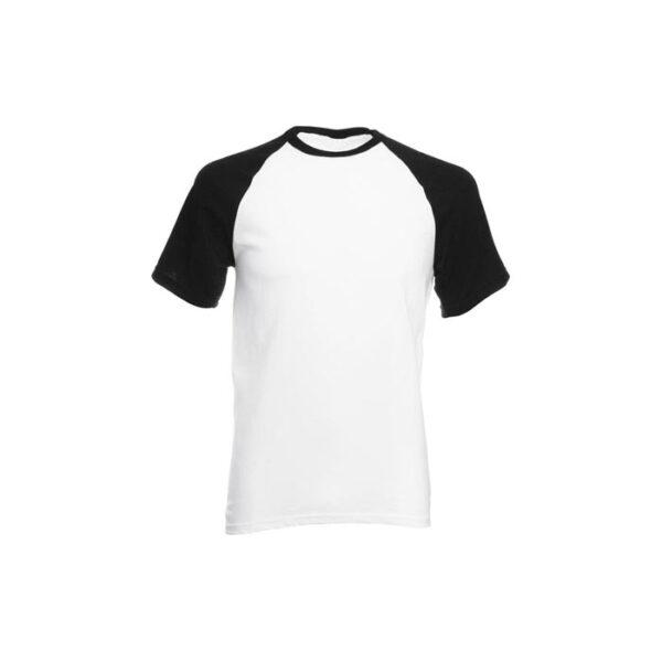 Majica za sublimaciju, 190gsm, crni rukav