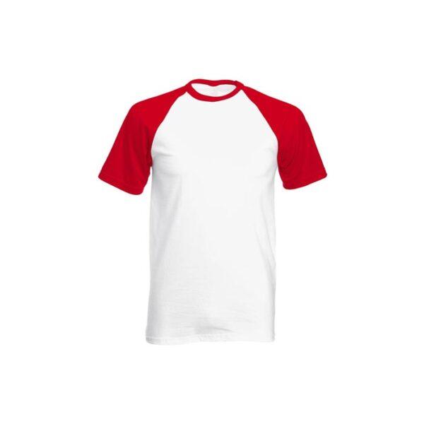 Majica za sublimaciju, 190gsm, crveni rukav