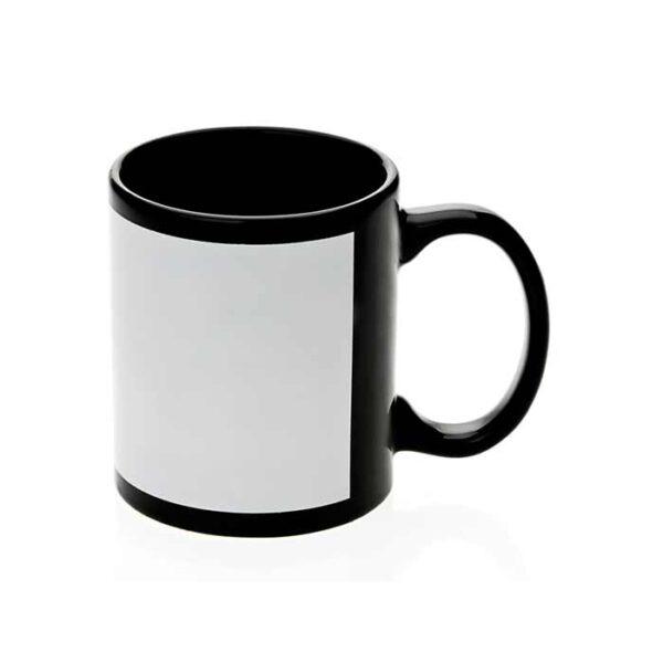 Crna šalica s bijelim prostorom za sublimacijski tisak