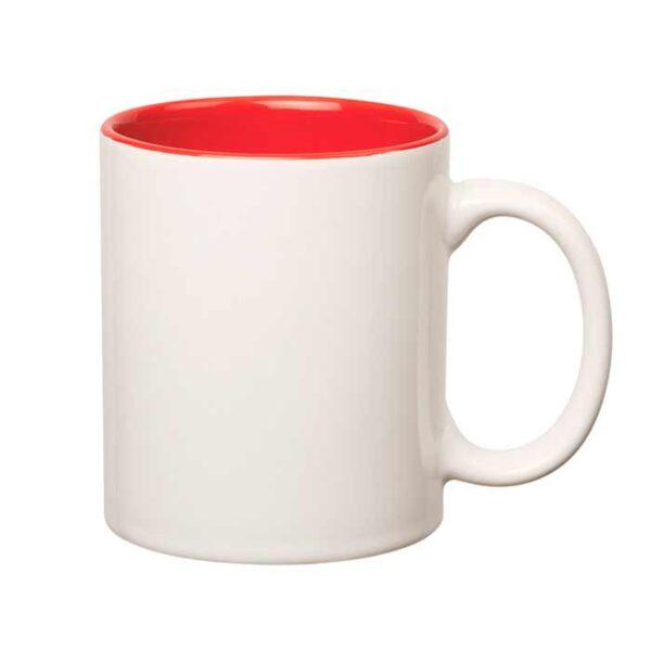 šalica-za-sublimaciju, obojana-unutrašnjost, crvena