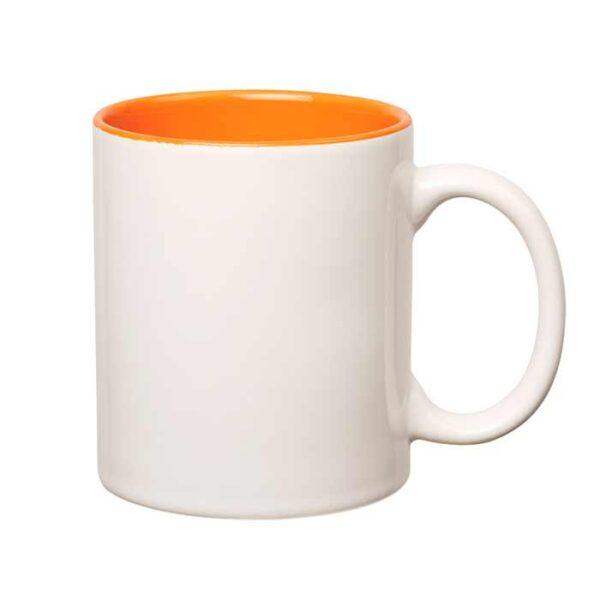 Šalica za sublimaciju, obojana unutrašnjost, narančasta