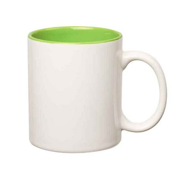 Šalica za sublimaciju, obojana unutrašnjost, svijetlo zelena